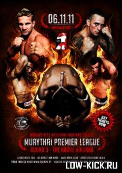 6 ноября пройдет третье шоу Муай Тай премьер лиги Blood and Steel