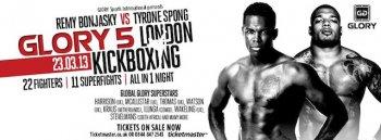 23 марта GLORY 5 London: Реми Боньяски против Тайрона Спонга