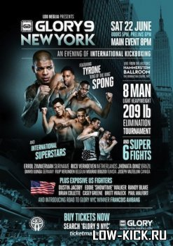 Тайрон Спонг опустится в категорию до 95 кг ради участия в GLORY 9 NYC